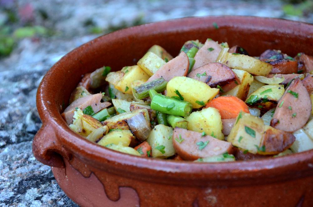 Pytti panne-biksemad-med pølser-kjøttdeig-kjøttrester_1000